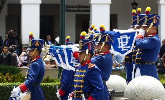 The guards' band outside the Presidential Palace