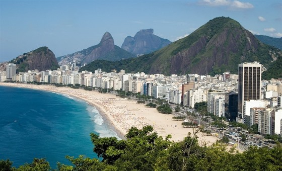 Walk along the infamous Copacabana Beach