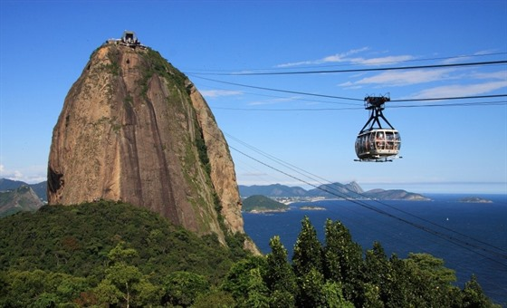 Take the cable car up Sugar Loaf Mountain