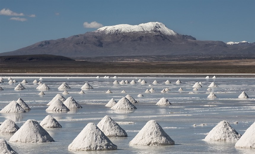 Salt mounds ready for collection