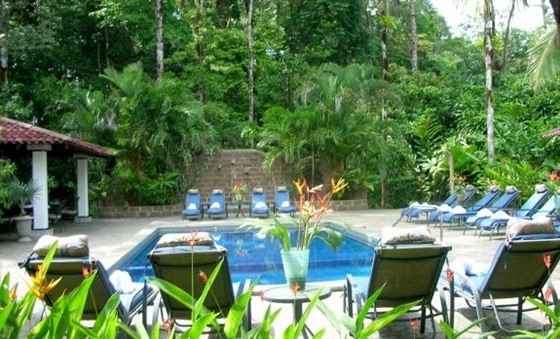 The pool at Casa Corcovado Jungle Lodge