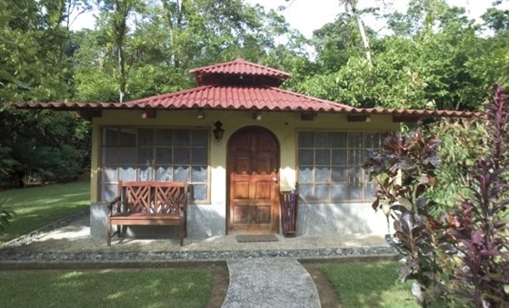 Bungalows are dotted through the tropical gardens at Casa Corcovado Jungle Lodge