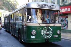 Typical trolley bus