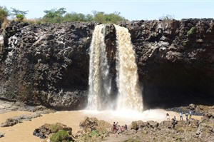 The Falls in dry season when diverted.