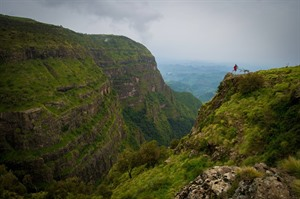 Hiker in the Simien Mountains (ETO)