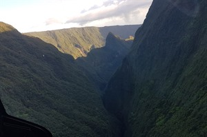 Helicopter flight over Reunion Island 1