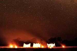 Sleep out under the stars in the South Luangwa at Luwi Camp 1