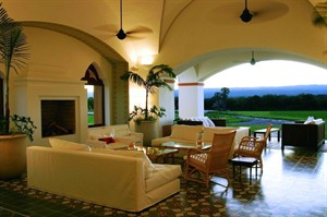 Lounge at Estancia El Colibri
