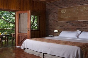 Bedroom example at La Aldea de la Selva