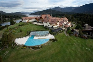 Aerial view of Llao Llao Hotel and Resort
