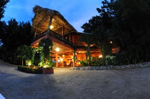 Copal Tree Lodge at night