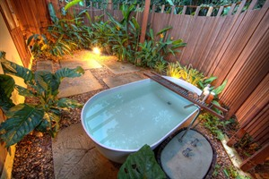 Bathtub in a private garden