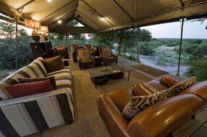 Relaxing area at Kalahari Plains Camp