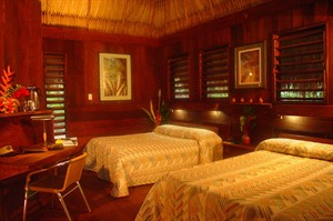 Room at Lamanai Outpost Lodge