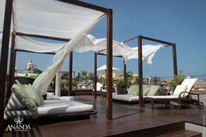 Rooftop lounging at Ananda Hotel Boutique