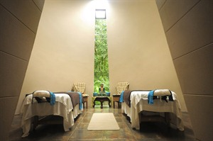 Conical room at the Spa