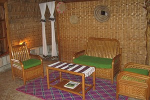Each bungalow/tukul has a lounge