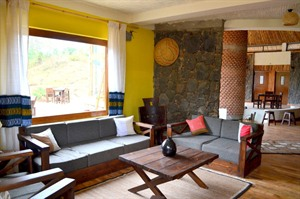 Lounge area at Bale Mountain Lodge