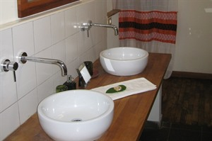 En-suite bathroom at Bale Mountain Lodge