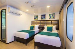 Alya cruise double room on a Galapagos holiday