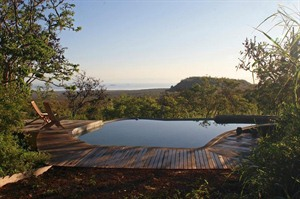 Pool and views at Galapagos Safari Camp
