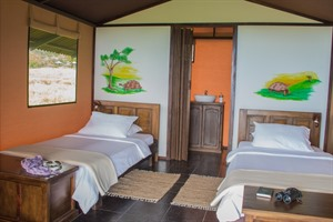 Bedroom at Magic Galapagos Tented Camp