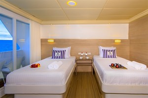 Accommodation on the Treasure of Galapagos catamaran
