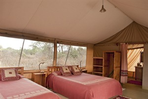 Bedroom example at Amboseli Porini Camp