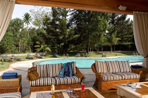 Lounge area and pool at House of Waine