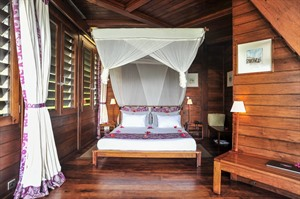 Each villa has a double bed and bathroom on the ground floor