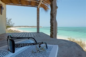 Relaxing with the Mozambique channel in sight at Five Senses Lodge