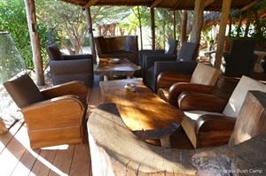 Lounge area at Iharana Bush Camp