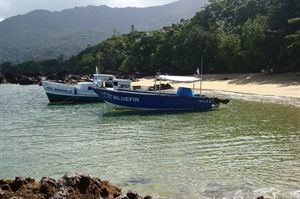 Boats used for transfers to/from Maroantsetra