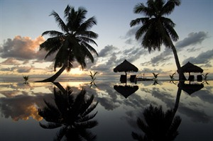 Sunset at Princesse Bora Lodge