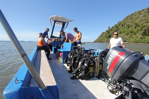 Setting off on a scuba diving excursion
