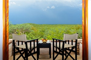 Views whilst relaxing at Etosha Safari Lodge