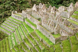 Inca ruins at Winay Wayna