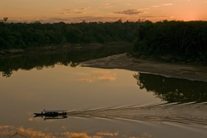 Sunset on the Tambopata River