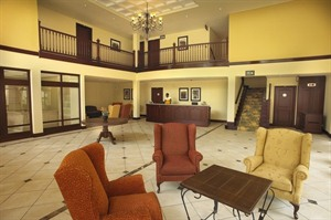 Lobby at Lake Kivu Serena Hotel