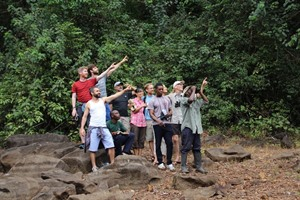 Birding party on one of Tacugama's trails.