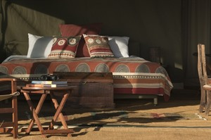 Chaka Camp, typical tented bedroom