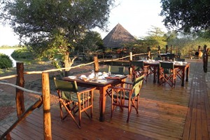 Selous Impala Camp dining