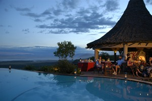 Dusk at Lake Manyara Serena Safari Lodge