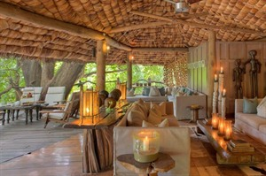 The Lounge At &Beyond Lake Manyara Tree Lodge