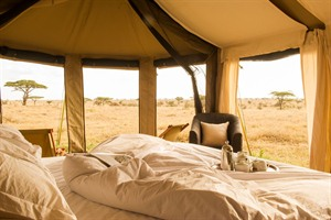 Bedroom at Namiri Plains