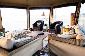 Lounge area at Namiri Plains