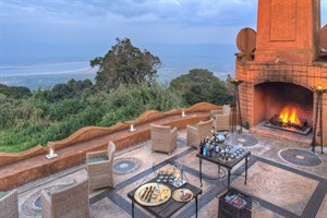 Terrace Views At &Beyond Ngorongoro Crater Lodge