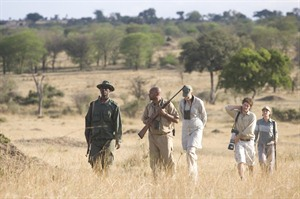 Walking safari at Sayari Camp