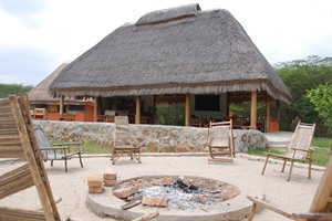 Firepit at Enjojo Lodge
