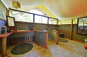 Bathroom at Ishasha Wilderness Camp